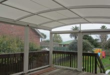 PVC is an alternative covering which looks clean and stylish for a modern curved look. Gives great shading with maximum light.   Price range for average Awning size $6500-$8500 inc gst.