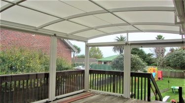 aluminium  PVC awning and curtains