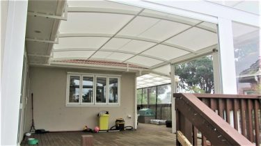 PVC awning with Curtains