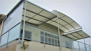 PVC awning over decking area