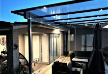 Designed in New Zealand, Flexiroof is the most stylist, simplest awning on the market (1 metre centres).   Price range for average Awning size $8700-$9600 inc gst.